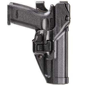BLACKHAWK! SERPA S&W M&P .45 Level 3 Light Bearing Autolock Duty Holster Left Hand Polymer Black 44H145BK-L