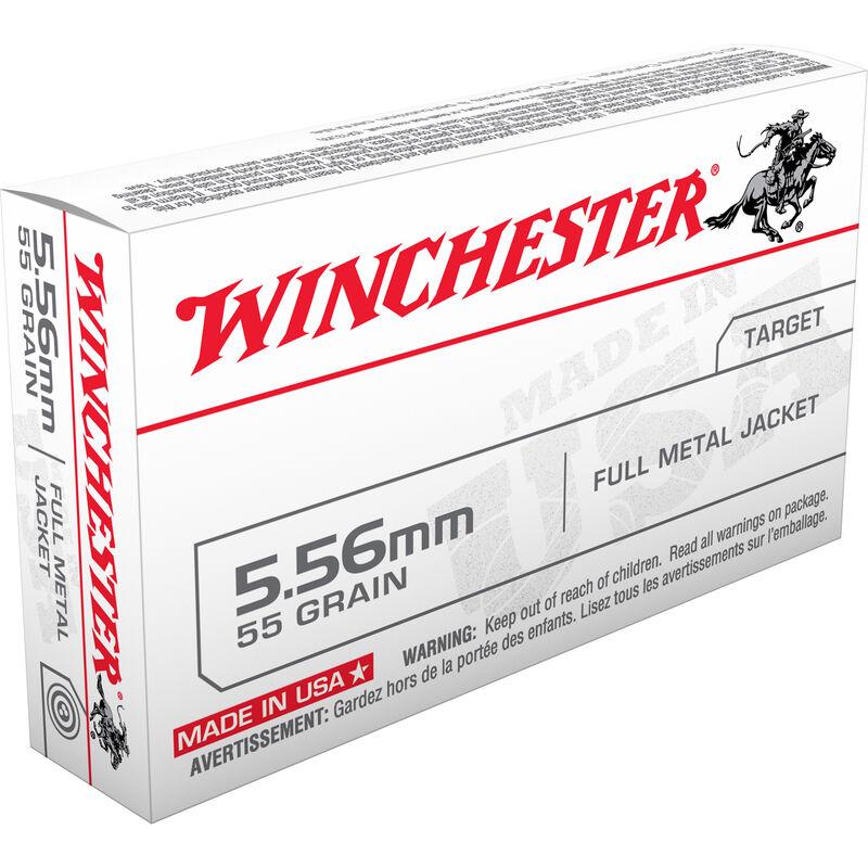 Winchester USA 5.56 NATO Ammunition 20 Rounds XM193 FMJ 55 Grains Q3131