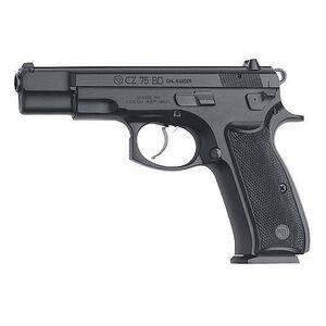"CZ 75 BD Semi Auto Handgun 9mm Luger 4.6"" Barrel 16 Rounds Decocking Lever Polymer Grips Black Polycoat Finish 91130"