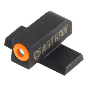 Night Fision Perfect Dot Tritium Front Sight Only SIG Sauer P-Series Pistols #6 Front Sight Green Tritium Front Orange Outline Metal Body Black Nitride Finish