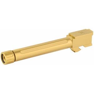 True Precision GLOCK 17 Gen 1-4 Threaded 1/2x28 Drop In Replacement Barrel 9mm Luger Gold Titanium Nitride Finish