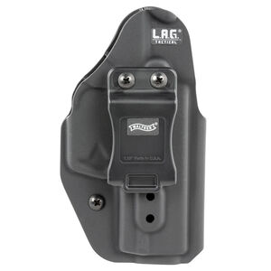 Walther LAG Tactical IWB Holster for Walther PK380 Models Ambidextrous Draw Kydex Construction Matte Black Finish