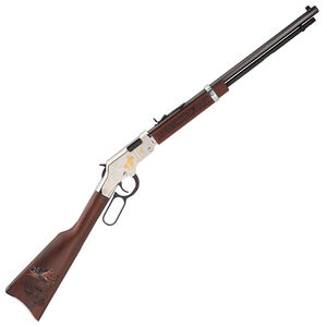 """Henry Golden Boy Silver American Rodeo Tribute Edition .22 LR Lever Action Rifle 20"""" Octagon Barrel 16 Rounds Walnut Blued Finish"""