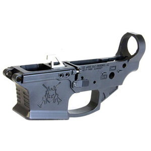 KE Arms AR-15 9mm Luger Ambidextrous Stripped Lower Receiver GLOCK Magazine Compatible Billet Aluminum Anodized Matte Black
