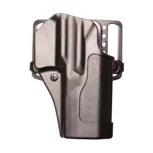 BLACKHAWK! Sportster CQC Belt/Paddle Holster S&W M&P Shield Right Hand Polymer Black 410566BK-R