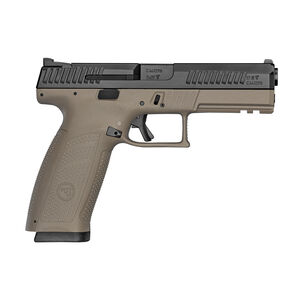 "CZ P-10 F 9mm Luger Semi Auto Pistol 4.5"" Barrel 10 Rounds Polymer Frame Flat Dark Earth Frame/Black Slide"