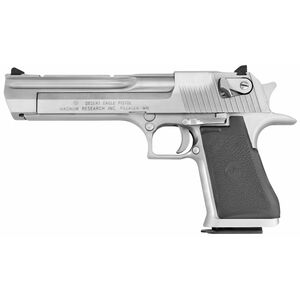 "Magnum Research Desert Eagle Mark XIX Semi Auto Pistol .44 Magnum 6"" Barrel 8 Rounds Fixed Combat Sights Weaver Accessory Rail Brushed Chrome Finish"