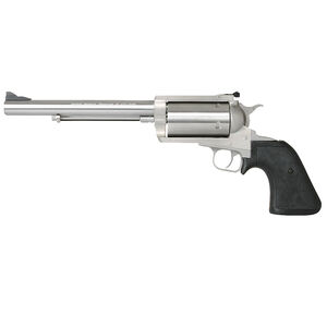 """Magnum Research BFR Single Action Revolver .50 AE 7.5"""" Barrel 5 Rounds Short Cylinder Model Fixed Front/Rear Adjustable Sight Black Rubber Grip Brushed Stainless Steel Finish"""