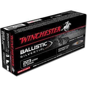 Ammo .223 WSSM Winchester Supreme 55 Grain Ballistic Silvertip Bullet 3850 fps 20 Rounds SBST223SS