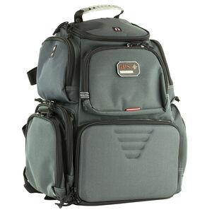 G-Outdoors The Handgunner Range Backpack Holds 4 Pistols Lockable Zippers Gray
