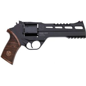 "Chiappa Rhino 60DS 357 Mag 6"" 6rds Wood Grip Black"