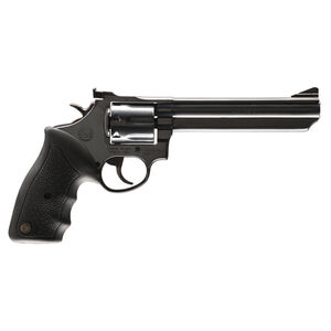 "Taurus Model 66 Double Action Revolver .357 Magnum 6"" Barrel 7 Rounds Fixed Front/Adjustable Rear Sights Soft Rubber Grip Matte Black Finish"