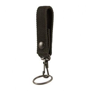 "Boston Leather .75"" Key Loop with Key Snap Nylon Black"