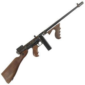 "Auto-Ordnance Thompson 1927A-1 Deluxe Semi Auto Carbine .45 ACP 16.5"" Finned Barrel 20 Rounds Walnut Furniture Case Hardened/Blued Finish"