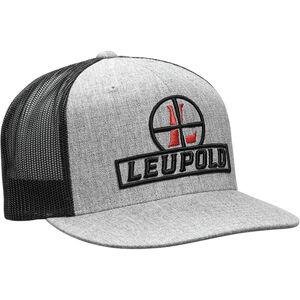 Leupold Reticle Logo Trucker Hat OSFA Snap Back Adjustment Heather Gray/Black