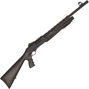 """Dickinson XX3 Tactical 12 Gauge Pump Action Shotgun 18.5"""" Barrel 3"""" Chamber  5 Rounds Ghost Ring Sights Synthetic Pistol Grip Stock Black Finish"""
