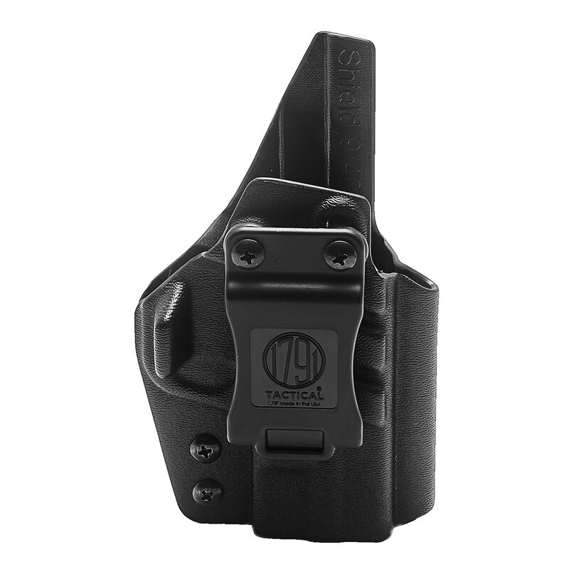 1791 Gunleather Tactical Kydex Multi-Fit IWB Holster for S&W Shield 9/40 Semi Auto Pistols Right Hand Draw Kydex Black