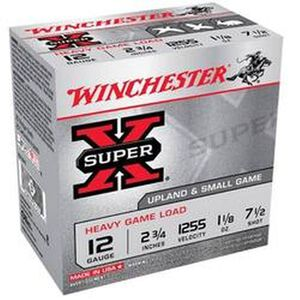 "Winchester Super X Heavy Game 12 Gauge Ammunition 250 Rounds 2.75"" #7.5 Lead 1.125 Ounce XU12H7"