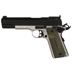 "EAA GiRSAN MC1911 Match Model .45 ACP Semi Auto Pistol 5"" Barrel 8 Rounds Adjustable Rear Sight Ambidextrous Safety Two Tone Finish"