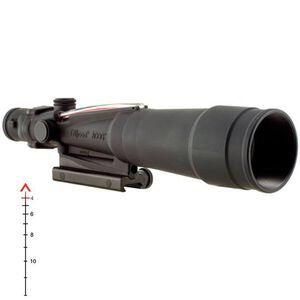 Trijicon ACOG TA55A 5.5x50 Rifle Scope Illuminated Red Chevron .308 Ballistic Reticle with BAC 1/5 MOA with TA51 Mount Aluminum Black TA55A