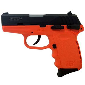 "SCCY CPX-1 Semi Auto Pistol 9mm 3.1"" Barrel 10 Rounds Polymer Frame Orange/Black"