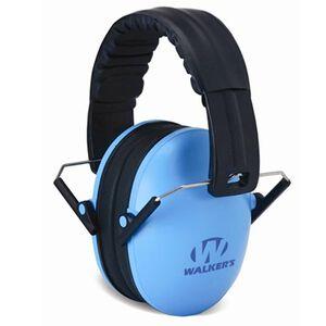Walker's Game Ear Passive Baby/Kid Folding Earmuffs Blue