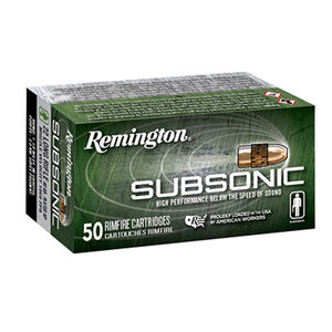 Remington Subsonic .22 LR Ammunition 38 Grain HP 1050 fps