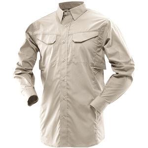 Tru-Spec 24-7 Series Ultralight Long Sleeve Field Shirt Polyester Cotton Rip-Stop Medium Khaki