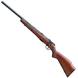 "Savage Model 93R17 GLV Left Hand Bolt Action Rifle .17 HMR 21"" Barrel 5 Rounds Wood Stock Blued Finish 96717"
