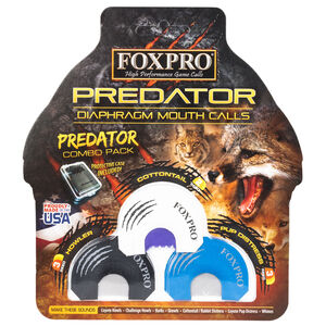 FoxPro Predator Combo Pack Diaphragm Mouth Call Latex