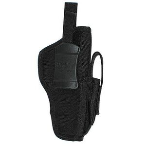 "BLACKHAWK! Ambidextrous Belt Holster Medium And Large-Frame Autos 3.25"" to 3.75"" Barrels Mag Pouch Black 40AM06BK"