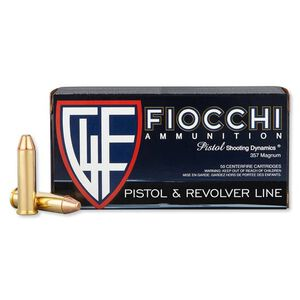 Fiocchi .357 MAG 142 Grain FMJTC 50 Round Box 1420 fps