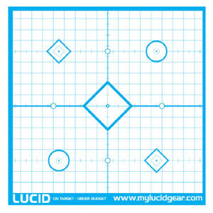 """Lucid Precision Rifle Sight In Target 18""""x18"""" Paper 20 Pack L-TARGET-1"""