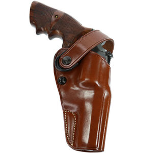 """D.A.O. Belt Holster 4"""" Revolvers Right Hand Leather Tan"""