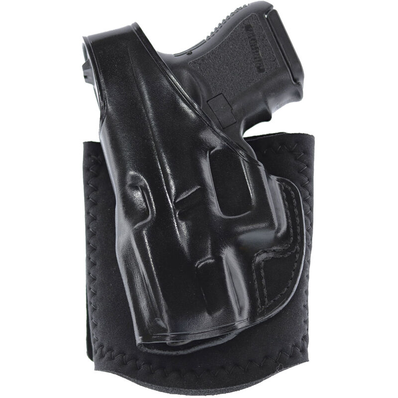 Galco Ankle Glove Ankle Holster Left Hand Fits GLOCK 43 Leather Black
