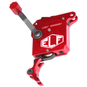 Elftmann Tactical Remington 700 SE Precision Rifle Trigger Adjustable Pull Weight Safety/No Bolt Release/Curved Red Trigger Shoe