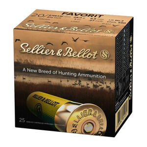 "Sellier & Bellot 20 Gauge Ammunition 25 Rounds 2-5/8"" #2 Buckshot 1oz Lead Shot 1181fps"