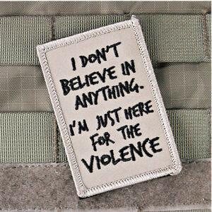 """Violent Little Machine Shop Here for the Violence Morale Patch 3""""x2"""" Velcro Brown and Black"""