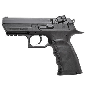 """Magnum Research Baby Desert Eagle III Semi-Compact Semi Auto Pistol 9mm Luger 3.85"""" Barrel 10 Rounds Combat 3 Dot Fixed Sights Polymer Frame Matte Black Finish"""