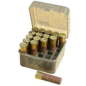 "MTM Case-Gard Shotshell Boxes Dual Gauge 10/12 Gauge Shotshell Box 3.5"" Shells 25 Round Capacity Clear Smoke Finish"