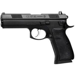 "CZ-USA 97-BD Semi Auto Handgun .45 ACP 4.65"" Barrel 10 Rounds Decocker Rubber Grips Night Sights Black 01416"