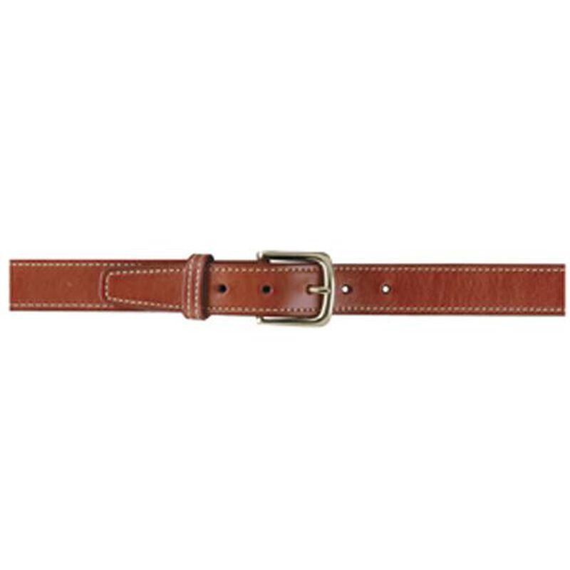 Gould & Goodrich Shooter's Belt Size 36 Nickel Buckle Leather Chestnut Brown 191-36