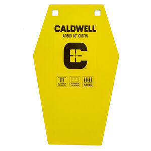 """Caldwell AR500 10"""" Coffin Steel Plate Target Yellow 1116693"""