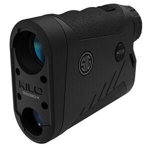 SIG Sauer Kilo1800BDX Laser Rangefinder 6x22mm Ballistic Data Xchange Compatible BDX-R1 Reticle LCD Display Black Finish