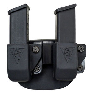 Comp-Tac Twin Magazine Pouch Paddle Left Side Carry Fits GLOCK 9mm/.40 Kydex Black
