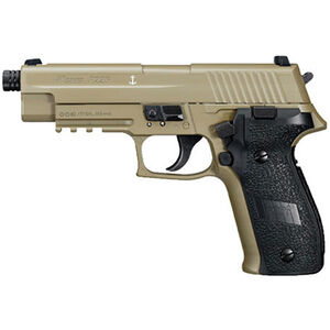 SIG Sauer P226 CO2 Semi Auto Air Pistol .177 Caliber 16 Rounds Metal Frame and Slide FDE AIR-226F-177-12G-16-FDE