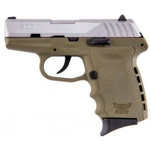 "SCCY CPX-2 9mm 3.1"" Barrel 10 Rounds FDE Stainless Steel"