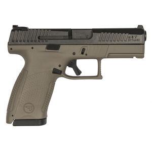 "CZ P-10 C 9mm Luger Semi Auto Pistol 4.02"" Barrel 15 Rounds Three Dot Night Sights Polymer Frame Flat Dark Earth"
