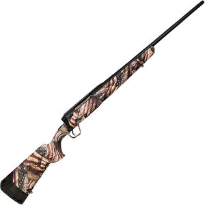 """Savage Arms Axis II RWB 6.5 Creedmoor Bolt Action Rifle 22"""" Barrel 4 Rounds American Flag Synthetic Stock Black Finish"""