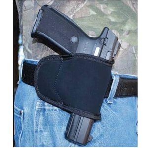 GROVTEC Multi Fit Small/Medium Frame Semi Automatic Pistols Belt Slide Holster Multi Layer Material Black with Black Trim GTHL-15098 BLKR